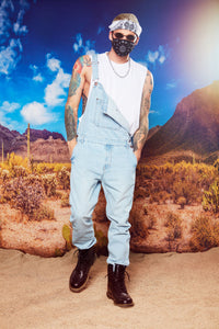 Lennie Overalls - Light Blue Wash Angle 1