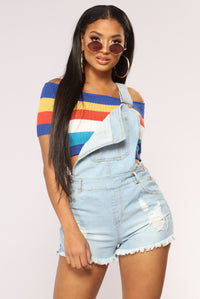 Kianna Cropped Top - Blue