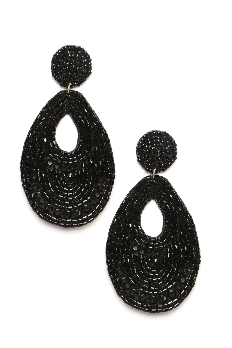 Bead The Trend Earrings - Black