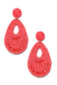 Bead The Trend Earrings - Red