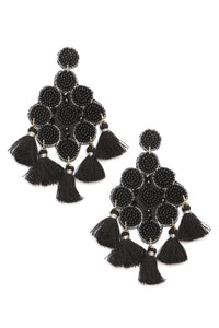 The One To Bead Earrings - Black