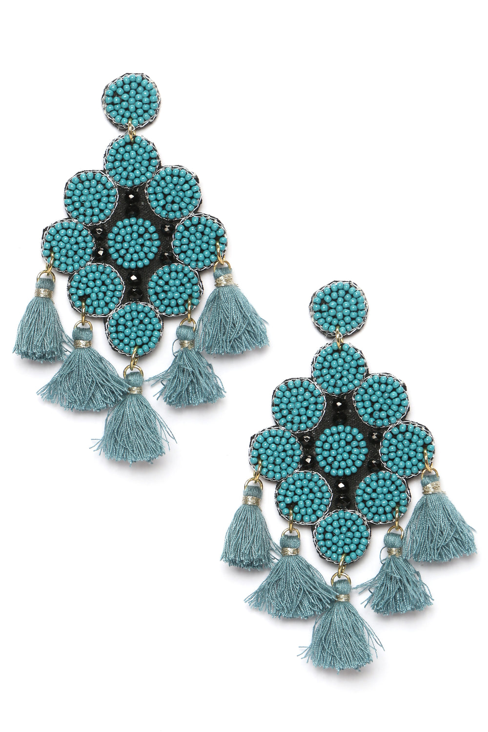 The One To Bead Earrings - Teal