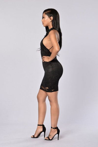 Gia Lace Dress - Black