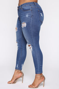 Safe And Sound Skinny Jeans - Medium Wash