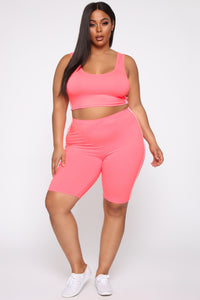 Tennis Pro Short Set - Neon Pink Angle 9