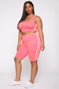 Tennis Pro Short Set - Neon Pink Angle 11