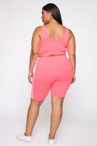 Tennis Pro Short Set - Neon Pink Angle 13