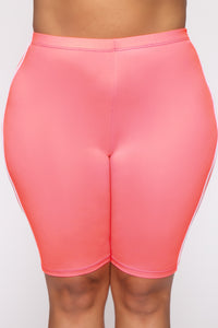 Tennis Pro Short Set - Neon Pink Angle 14