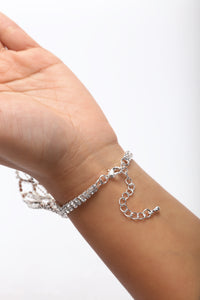 Attached To You Hand Chain - Silver
