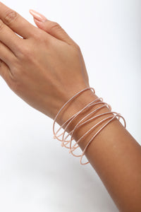 Beverly Layered Cuff - Rose Gold