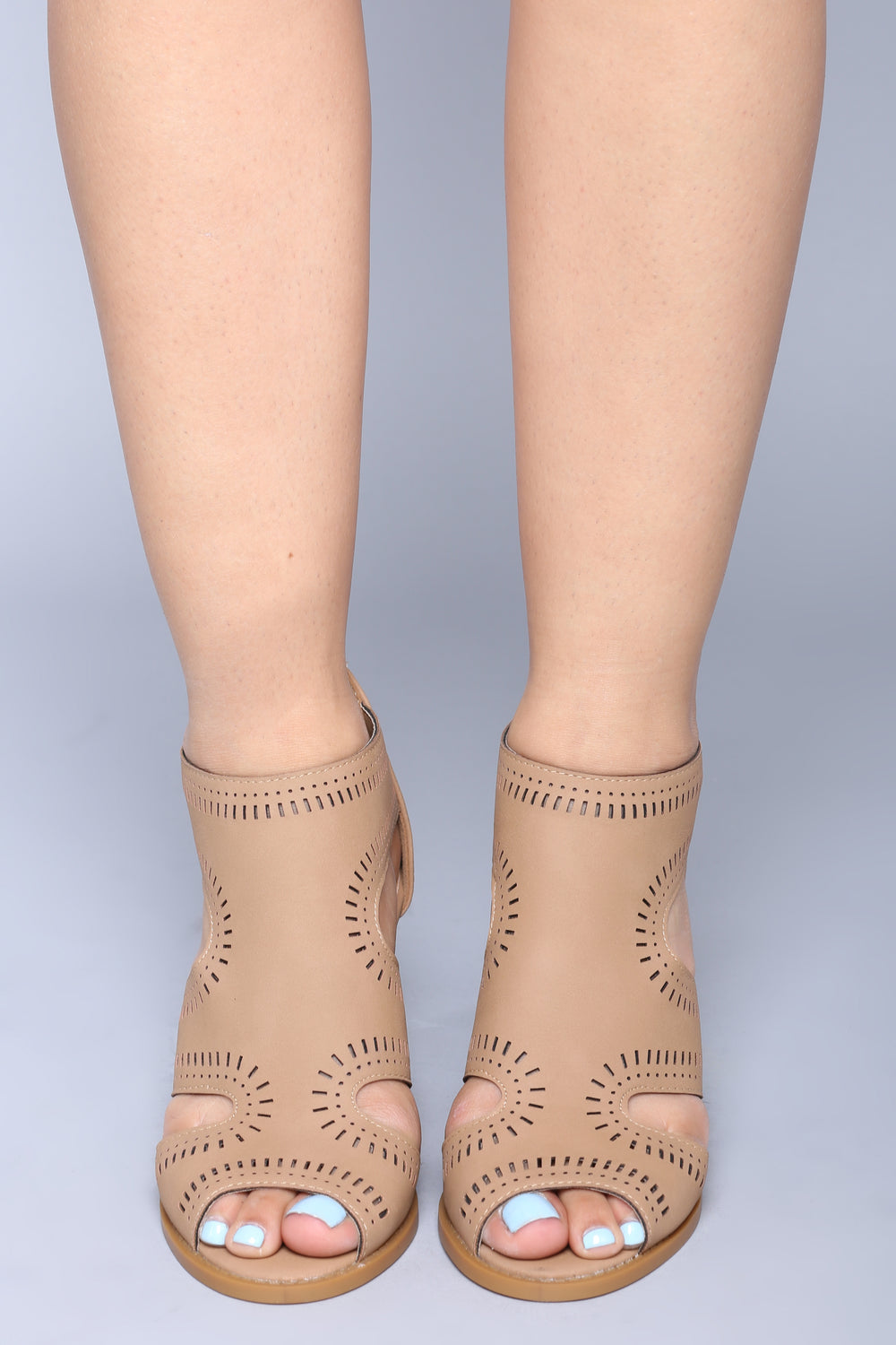 Low Key Heeled Sandal - Tan