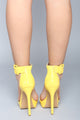 Hold Up Platform Heel - Yellow