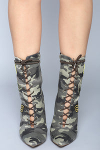 Flirty Flight Bootie - Camo