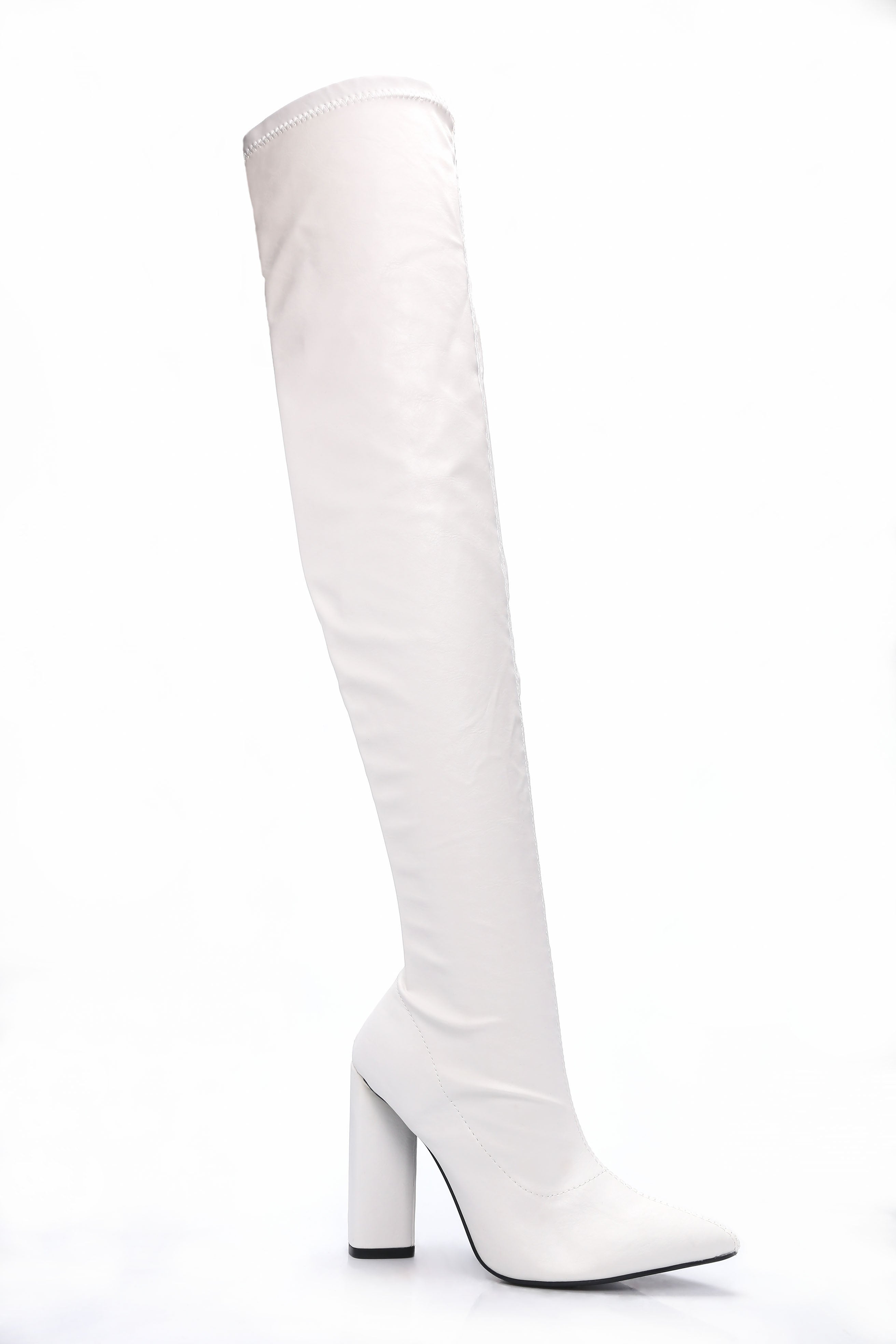 8d5bbf5bb2a So Serious Over The Knee Boot - White