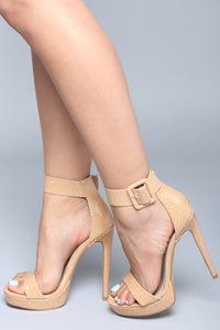Hold Up Platform Heel - Nude