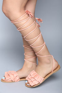 Queen Cleo Sandal - Blush