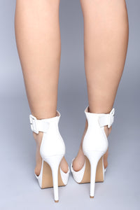Hold Up Platform Heel - White