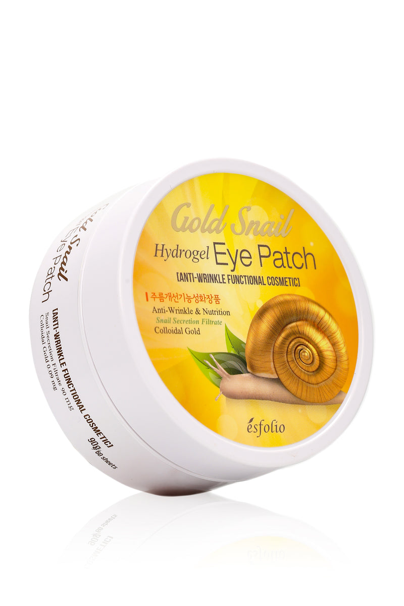 Esfolio Gold Snail Hydrogel Eye Patch - Gold