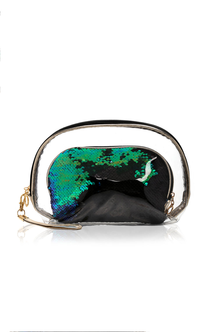 Double Take Beauty Bag - Green/Combo