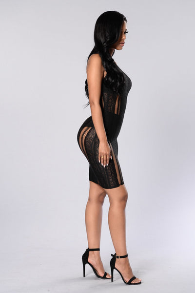 Expose Yourself Dress - Black