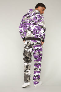 Alex Cargo Pants - Purple/Combo
