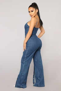 Tenacity Denim Jumpsuit - Dark Wash