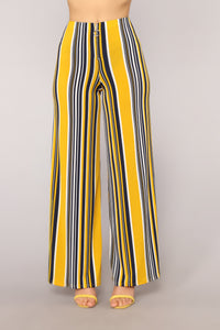 Stayin' Alive Pants - Mustard/Multi
