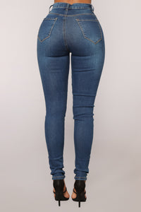 Up High Skinny Jeans - Dark Denim