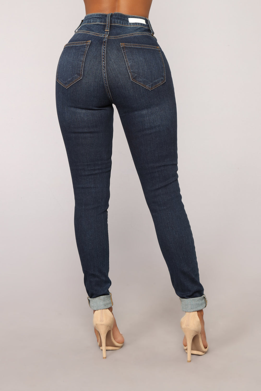 Eva High Rise Ankle Jeans - Dark Denim