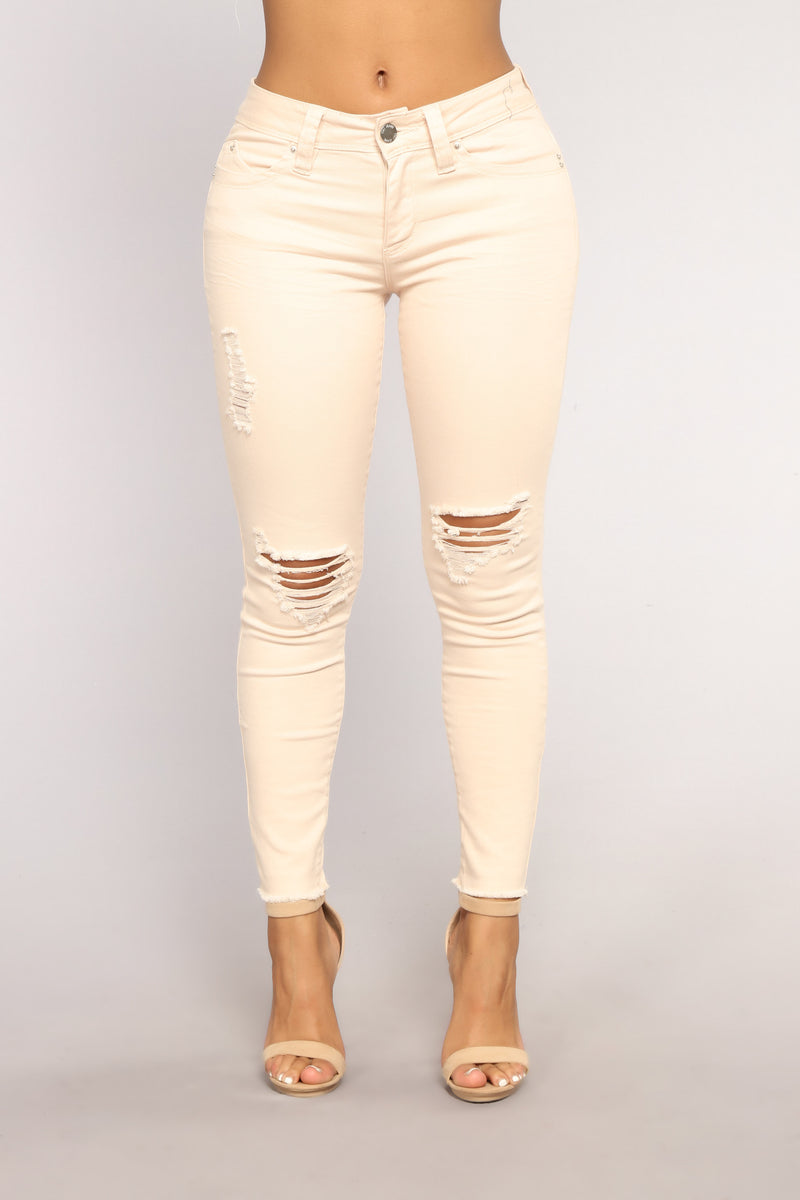 Sip Of Bubbly High Rise Jeans - Champagne