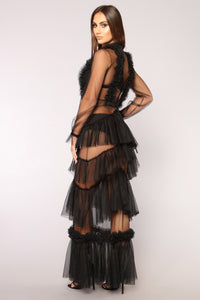 On Display Mesh Dress - Black