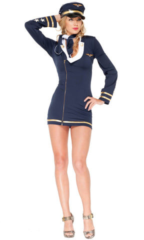 Mile High Maiden Costume - Navy