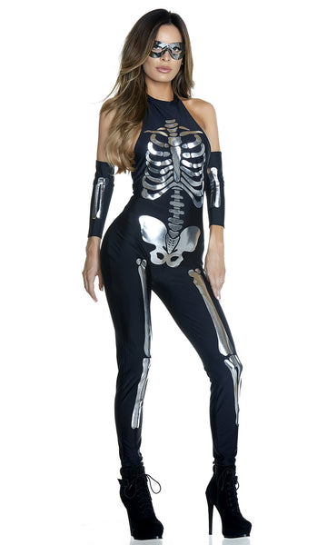 Opulent Outline Costume - Black/Silver