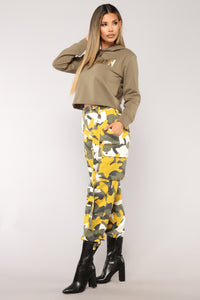 Nova Nation Camo Joggers - Yellow