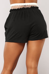 Out from Under Fishnet Active Shorts - Black