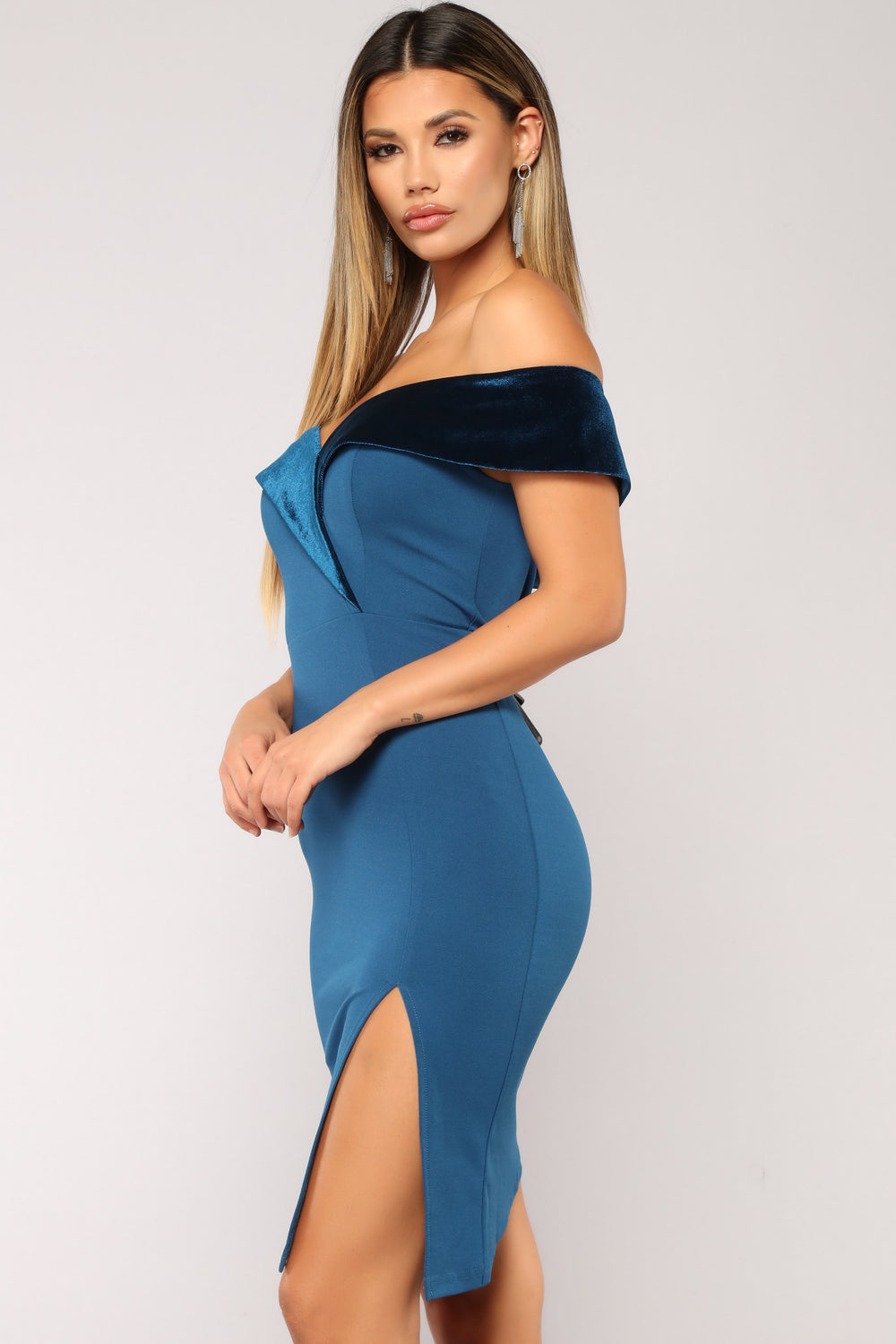 Azure Dreams Dress - Teal