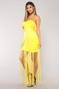 All The Stars Are Closer Dress - Yellow