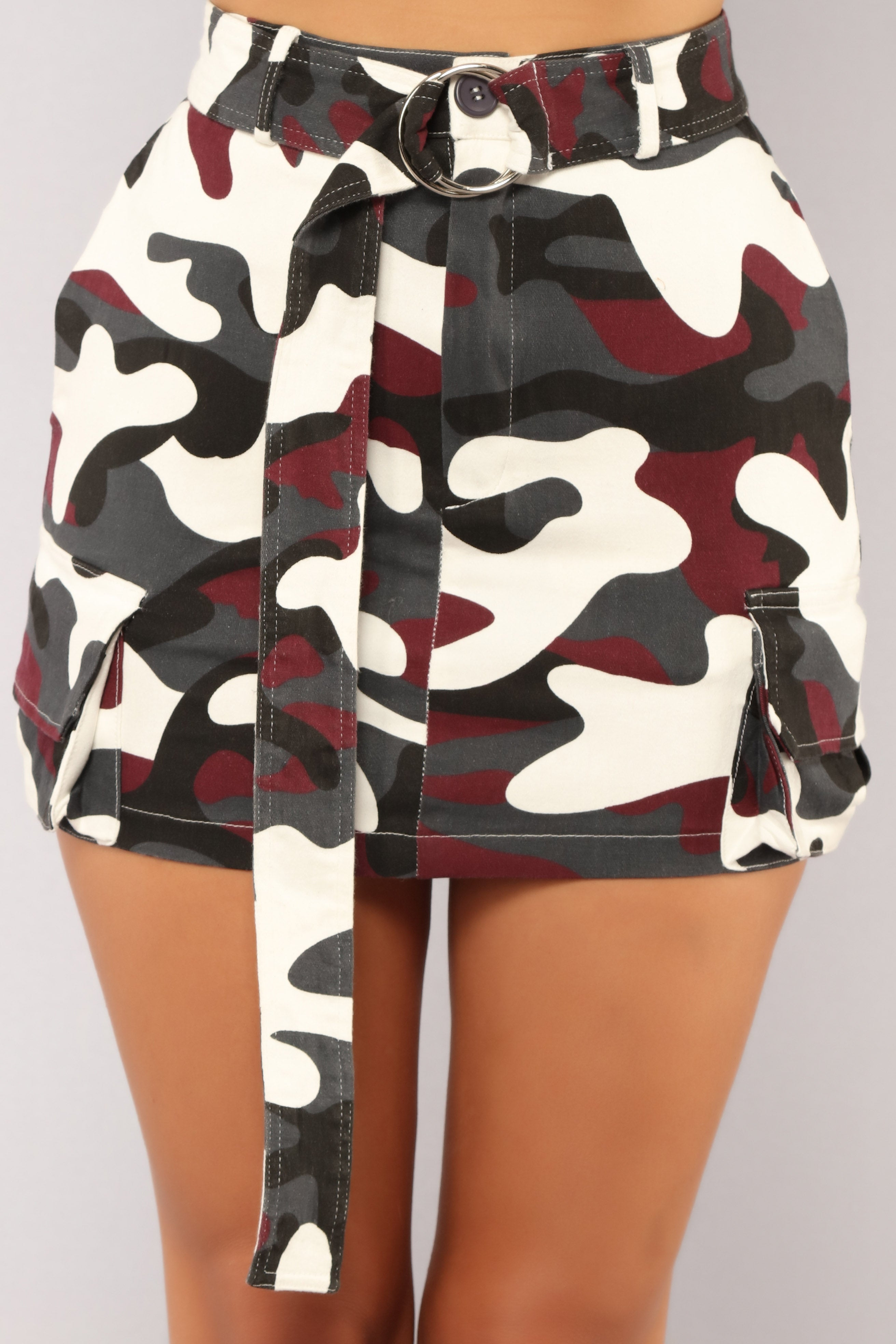 3b50f6efb9660 Survivor Camo Skirt - Burgundy