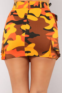 Survivor Camo Skirt - Orange