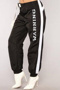 Warning You Now Flight Pants - Black