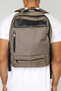 Patched Backpack - Tan