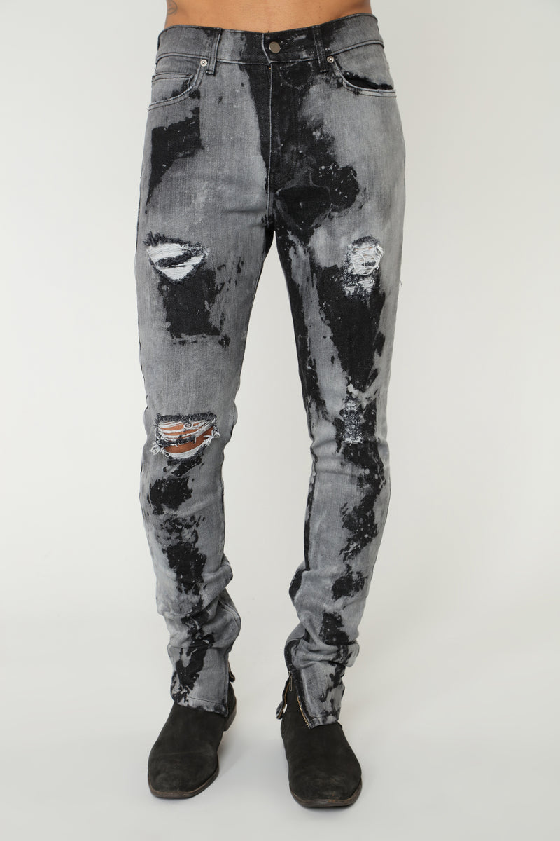 Atlas Skinny Jeans - Black/White