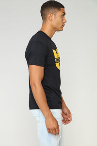 Wu Tang Short Sleeve Tee - Black Angle 3