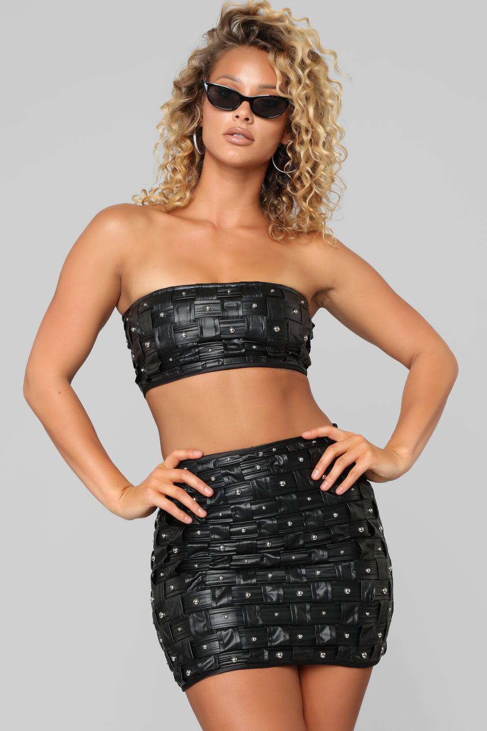 Bob And Weave Skirt Set - Black