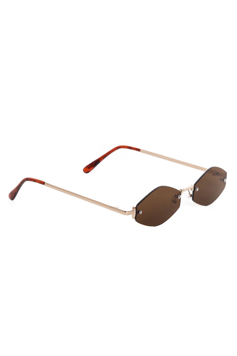 Neptune Sunglasses - Gold/Brown