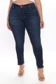 Take A Chance Skinny Jeans - Dark Wash