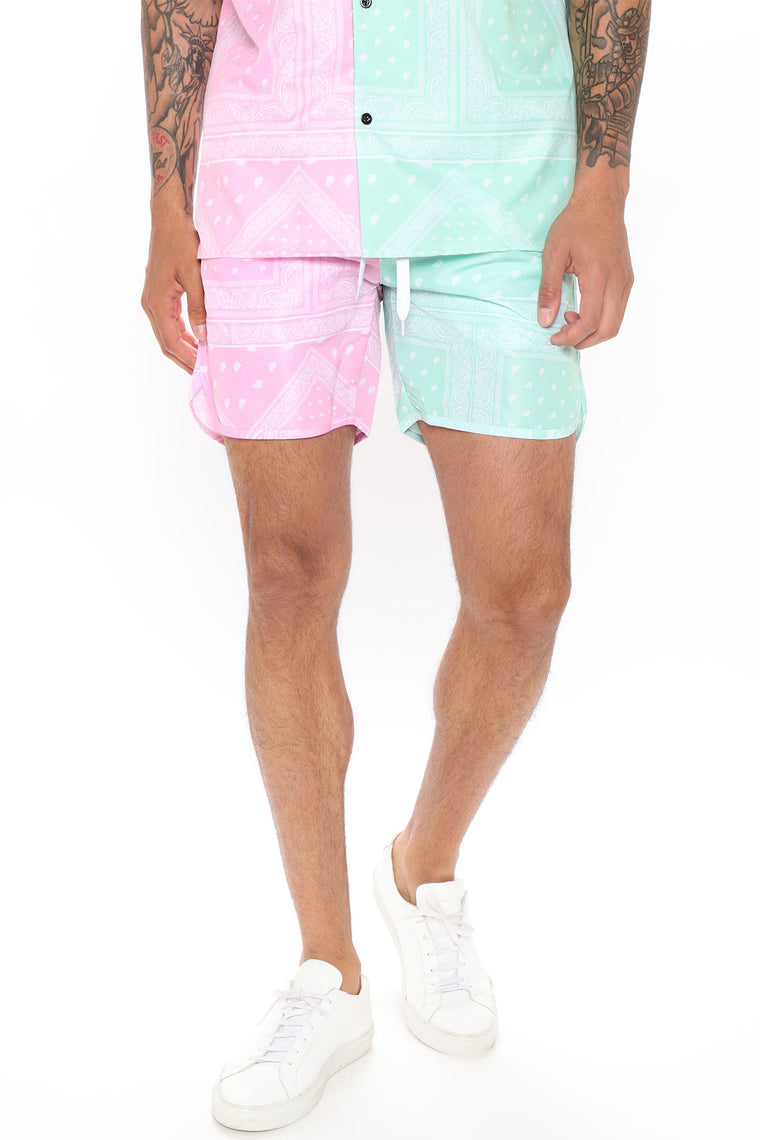 Wyatt Split Volley Trunk - Pink/Combo