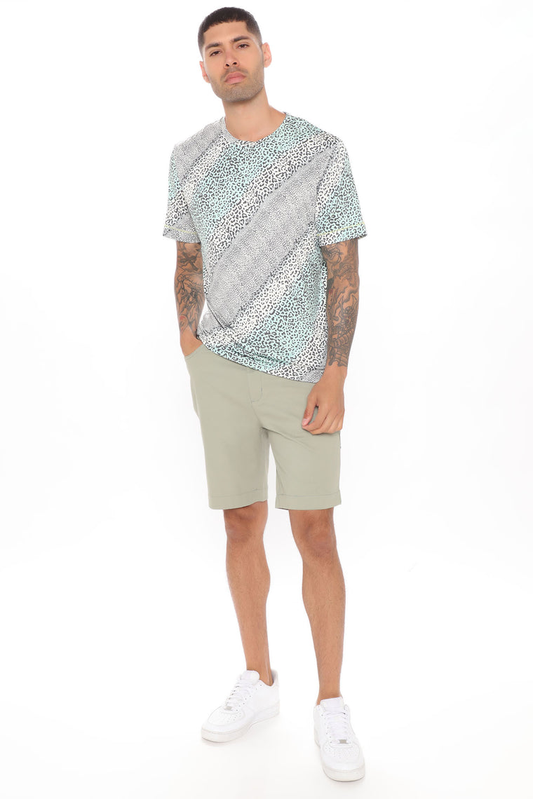 Work From Home Twill Shorts - Olive