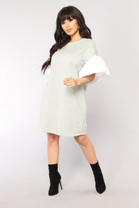 Madilyn Mini Dress - Grey