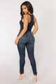 Zoey Racer Back Bodysuit - Navy